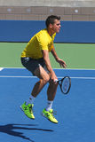 Professional tennis player Milos Raonic practices for US Open 2014 Royalty Free Stock Image