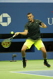 Professional tennis player Nick Kyrgios of Australia in action during his round 3 match at US Open 2016 Stock Images