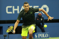 Professional tennis player Nick Kyrgios of Australia in action during his round 3 match at US Open 2016 Stock Image
