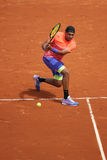 Professional tennis player Nick Kyrgios of Australia in action during his third round match at Roland Garros 2015 Stock Photo