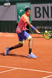 Professional tennis player Nick Kyrgios of Australia in action during his third round match at Roland Garros 2015 Royalty Free Stock Image