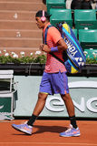 Professional tennis player Nick Kyrgios of Australia enters court before his third round match at Roland Garros 2015 Royalty Free Stock Image