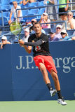 Professional tennis player Nick Kyrgios of Australia practices for US Open 2015 Stock Photos