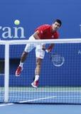 Professional tennis player Novak Djokovic during  fourth round match at US Open 2013 Royalty Free Stock Photos