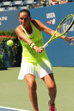 Professional tennis player Roberta Vinci of Italy in action during her first round match at US Open 2016 Stock Photos