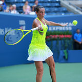 Professional tennis player Roberta Vinci of Italy in action during her first round match at US Open 2016 Stock Photography