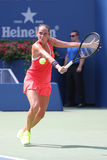 Professional tennis player Roberta Vinci of Italy in action during her quarterfinal match at US Open 2015 Stock Image