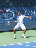Professional tennis player Sergiy Stakhovsky from Ukraine during first round match at US Open 2013 Royalty Free Stock Images