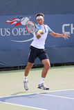 Professional tennis player Serhiy Stakhovsky of Ukraine in action during his first round match at US Open 2015 Stock Image