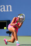 Professional tennis player Shuai Peng from China during round 4 match Stock Photography