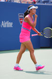 Professional tennis player Shuai Peng from China during round 4 match Stock Photos