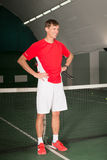 Professional tennis player standing Royalty Free Stock Images