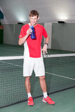Professional tennis player standing Stock Photography