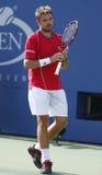 Professional tennis player Stanislas Wawrinka duri Stock Photography