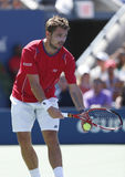 Professional tennis player Stanislas Wawrinka duri Stock Photography
