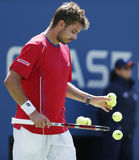 Professional tennis player Stanislas Wawrinka duri Royalty Free Stock Photography