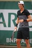 Professional tennis player Thanasi Kokkinakis of Australia during second round match at Roland Garros Royalty Free Stock Photos