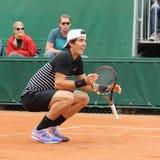 Professional tennis player Thanasi Kokkinakis of Australia during second round match at Roland Garros Stock Photo