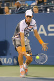 Professional tennis player Tomas Berdych from Czech Republic during US Open 2014 match Stock Images