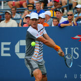 Professional tennis player Tomas Berdych from Czech Republic during US Open 2014 round 3 match Royalty Free Stock Image