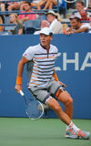 Professional tennis player Tomas Berdych from Czech Republic during US Open 2014 round 3 match. NEW YORK - AUGUST 31, 2014: Professional tennis player Tomas Royalty Free Stock Photos