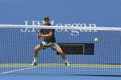 Professional tennis player Tomas Berdych practices for US Open 2014 at Billie Jean King National Tennis Center. NEW YORK - AUGUST 19: Professional tennis player Royalty Free Stock Image