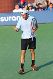 Professional tennis player Tommy Haas during first round singles match at US Open 2013 Royalty Free Stock Image