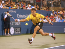 Professional tennis player Tommy Robredo during fourth round match at US Open 2013 against Grand Slam champion Roger Federer. NEW YORK- SEPTEMBER 2: Professional Stock Images