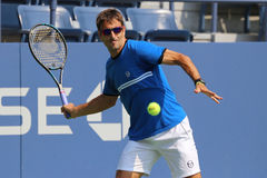 Professional tennis player Tommy Robredo of Spain practices for US Open 2015 Stock Photos