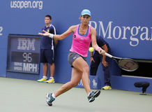 Professional tennis player Varvara Lepchenko during fourth round match at US Open 2014 Stock Photography