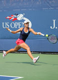 Professional tennis player Varvara Lepchenko of United States in action during second round match at US Open 2015 Stock Images