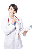 Professional thinking medical woman doctor Stock Photo