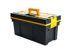 Professional tool box on white background Royalty Free Stock Images