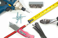 Professional tool set Royalty Free Stock Photos