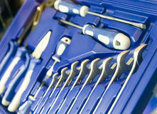 Professional toolbox for workshop and car repair Royalty Free Stock Images