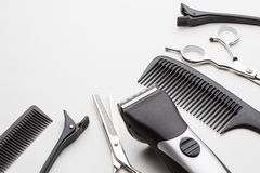 Professional tools of hairdresser Stock Photos