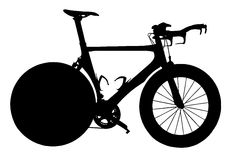 Professional Track Racing Bicycle Silhouette Isolation Stock Images