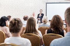 Professional training seminar. Image of people during professional training seminar for business workers Stock Images