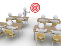 Professional training for target Stock Image