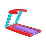 Professional treadmill icon, cartoon style Stock Image