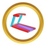 Professional treadmill vector icon Royalty Free Stock Photo
