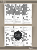 Professional Tri-Fold template, brochure or flyer. Royalty Free Stock Photos