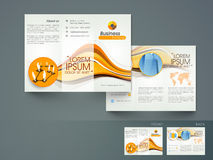 Professional trifold brochure, catalog and flyer. Royalty Free Stock Photography