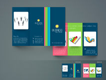 Professional trifold brochure, catalog and flyer. Stock Photo