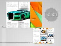 Professional trifold brochure, flyer for automobile sector. Stock Images
