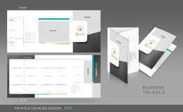 Professional trifold catalogue concept Stock Photos