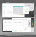 Professional trifold catalogue concept Stock Images