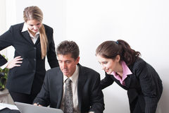 Professional Trio at work Royalty Free Stock Photos