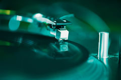 Professional turntable audio vinyl record music player Royalty Free Stock Photo