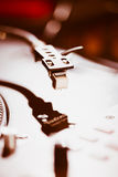 Professional turntable audio vinyl record music player Royalty Free Stock Photos